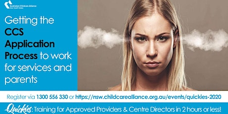 Quickies: Getting the CCS Application Process to work for Services WEBINAR tickets