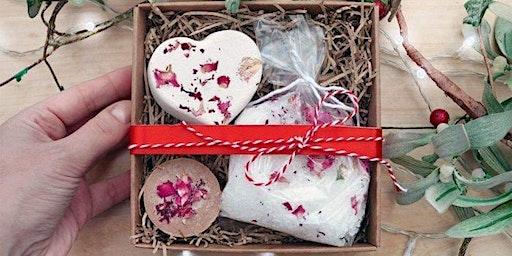 Valentine's Class - Cleopatra Rose Bath Bomb, Salts, Milk Bath