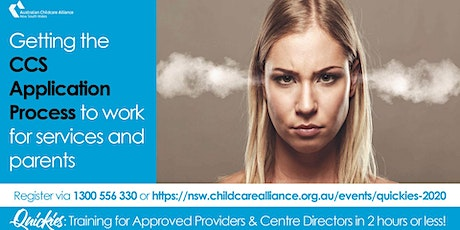 Quickies: Getting the CCS Application Process to work for Services+Families tickets