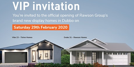 Official Opening of Rawson Group's new Dubbo display homes tickets