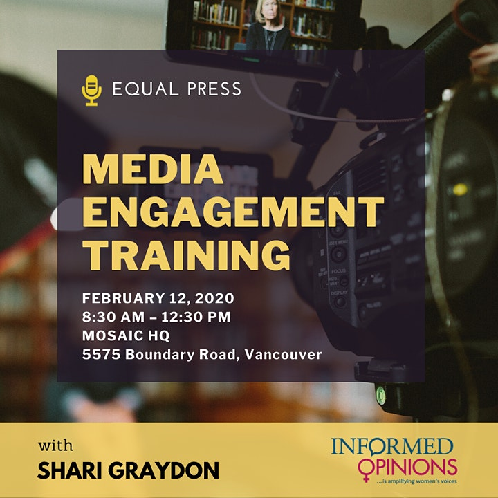 Media Training Workshop with Shari Graydon (Informed Opinions) image