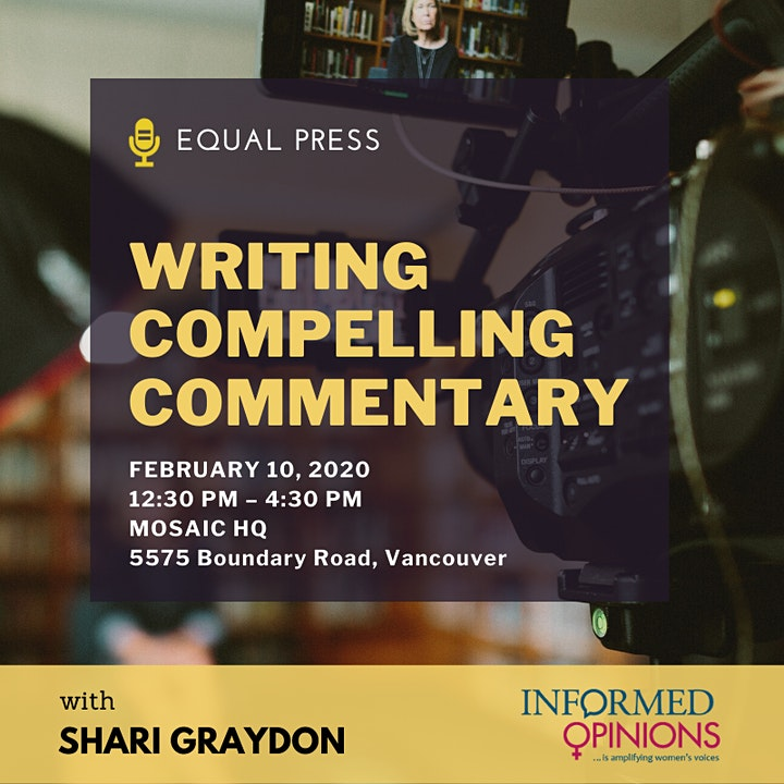 Writing Compelling Commentary with Shari Graydon (Informed Opinions) image