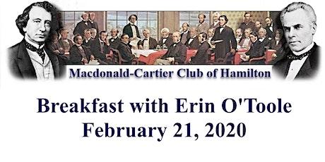 Macdonald-Cartier Club of Hamilton Breakfast with Erin O'Toole tickets