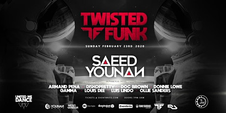 Twisted Funk with Saeed Younan  @ The Hub Lounge - Ft. Lauderdale tickets