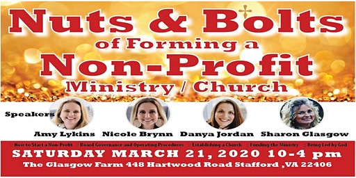 NUTS & BOLTS 2020 Conference: Starting a Nonprofit Ministry