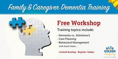 Family/Caregiver Dementia Training tickets