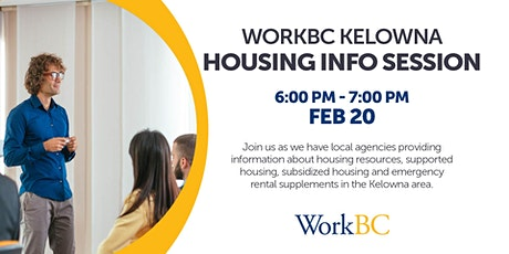 Housing Information Session tickets