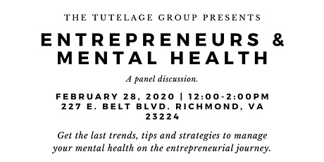 Entrepreneurs and Mental Health tickets