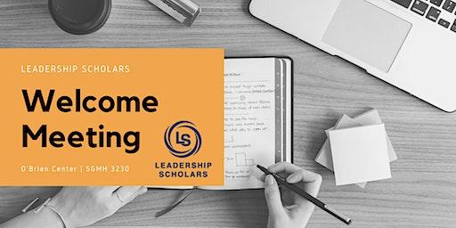 Leadership Scholars Spring 2020 Welcome Meeting