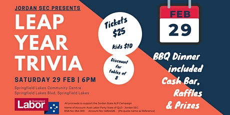 Jordan SEC Leap Year Trivia Night tickets