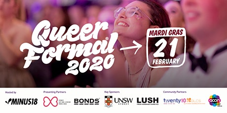 Minus18 Queer Formal Sydney: Mardi Gras 2020 tickets