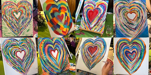 1.25 Heart Canvas with Angela