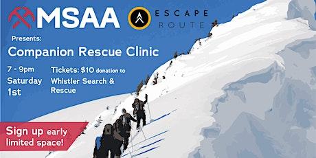 Companion Rescue Clinic Evening tickets