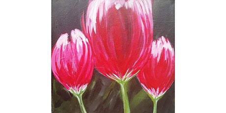 "3/9 - Corks and Canvas Event @ Reds Wine Bar, Kent ""Tulips on Black"" tickets"