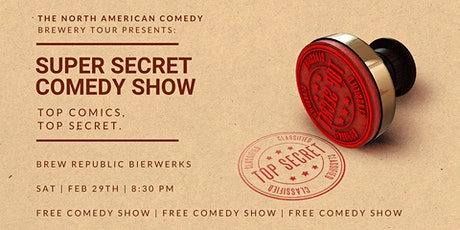 Super Secret Comedy Show at Brew Republic Bierworks tickets