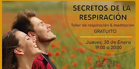 Secretos de la respiración - Taller de respiración tickets