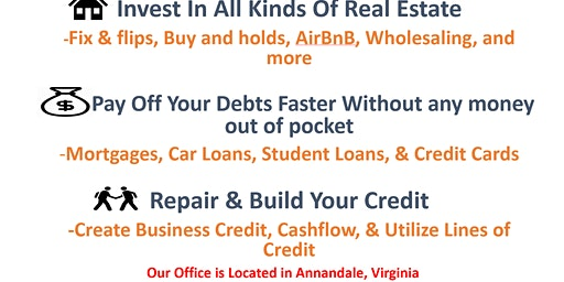 Real Estate Investing Marketing Event unlimited earning potential