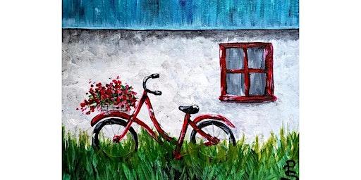 """3/10 - Corks and Canvas Event @ Hidden Vine Bistro, Marysville """"Red Bike"""""""