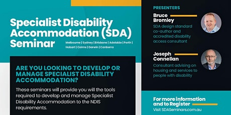 Specialist Disability Accommodation Seminars  tickets