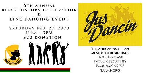 6th Annual AAMB Black History Celebration & Jus Dancin' Line Dancing Event