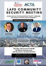 LAPD Community Security Meeting tickets