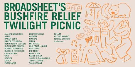 Broadsheet's Bushfire Relief Twilight Picnic tickets