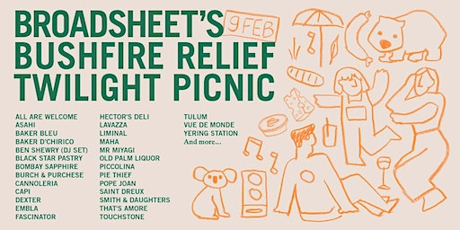 Broadsheet's Bushfire Relief Twilight Picnic