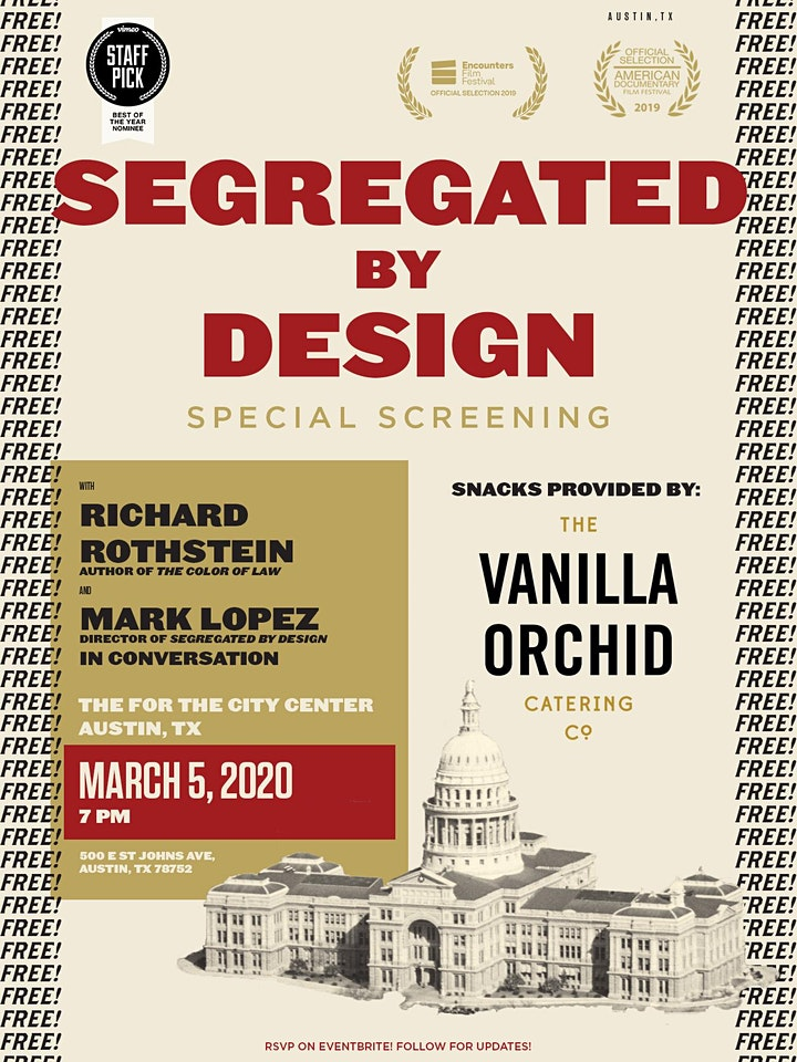 'Segregated By Design' Special Screening image