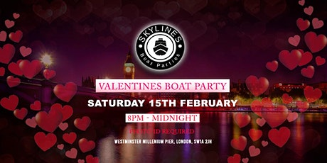 Valentines Boat Party Couples and Singles celebration tickets