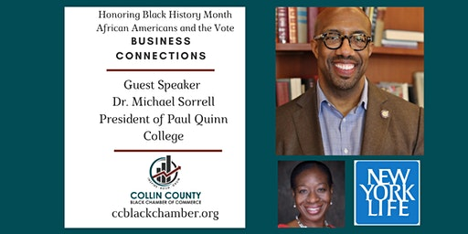 Honoring Black History with CCBCC: Dr. Michael Sorrell, Paul Quinn