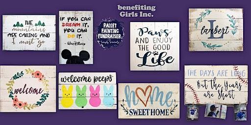 Pallet Painting Fundraiser benefiting Girls Inc. of Washington County