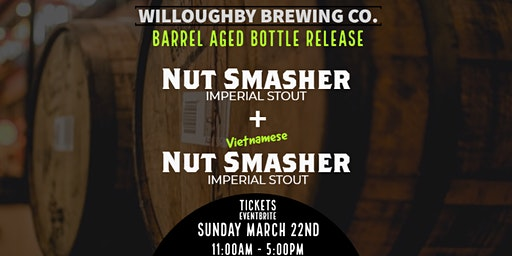 Barrel Aged Nut Smasher Bottle Release