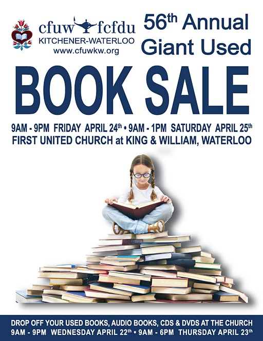 CFUW Kitchener Waterloo 56th Annual Giant Used Book Sale