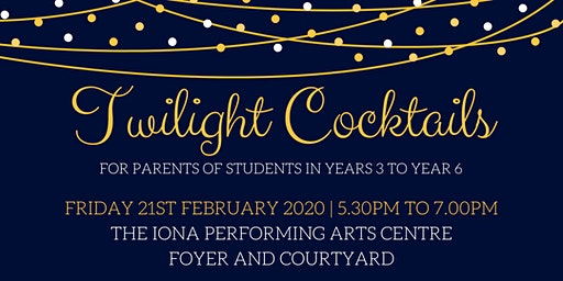 Years 3-6 Twilight Cocktail Evening for Parents