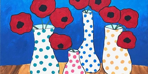 Paint Night-Four Vases-no experience nec, really!