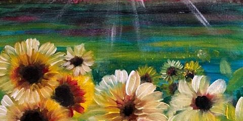 Paint Night in Canberra: Sunflowers