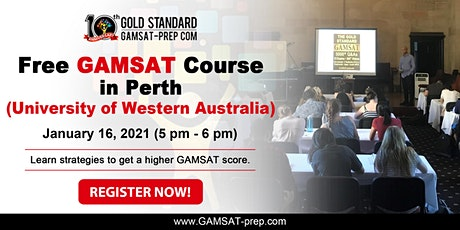 FREE GAMSAT Strategy Class in Perth for 2021 Preparation tickets