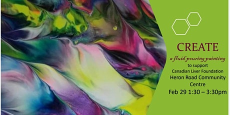 Fluid Paint Pouring for Canadian Liver Foundation  tickets