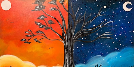 Date Night Painting: Live by the Sun, Love by the Moon +Dinner/Wine Option! tickets