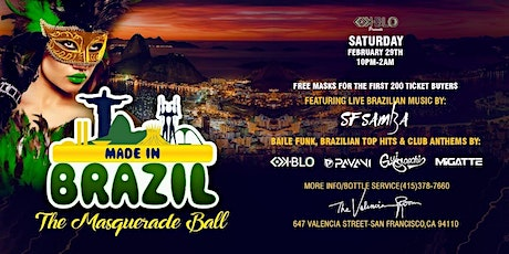 MADE IN BRAZIL-THE MASQUERADE BALL EDITION tickets