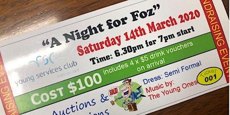 A Night for Foz tickets