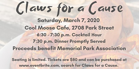 Claws for a Cause benefiting Memorial Park Association tickets