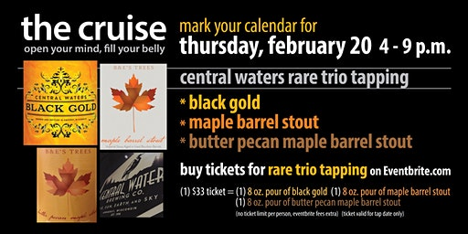Central Waters rare trio tapping
