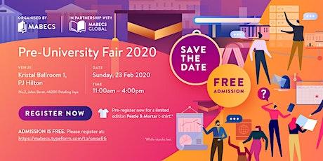 Pre-University Fair tickets
