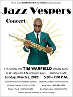 Jazz Vespers Featuring The Tim Warfield Organ Band