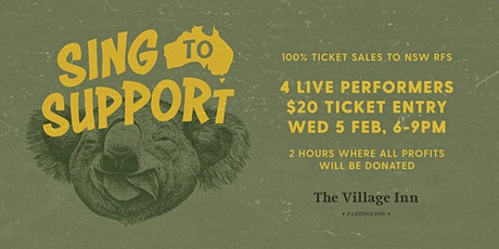 Sing To Support x The Village Inn tickets