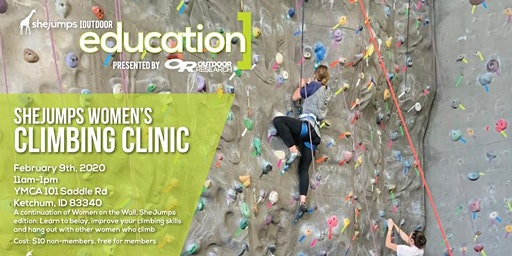 ID SheJumps Women's Climbing Clinic
