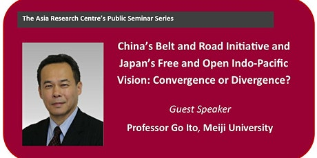 China's Belt & Road Initiative and Japan's Free & Open Indo-Pacific Vision tickets