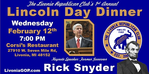 Livonia Lincoln Day Dinner