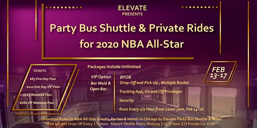 NBA All-Star 2020 Party Bus Shuttle to Events, Hotels, and  Airports